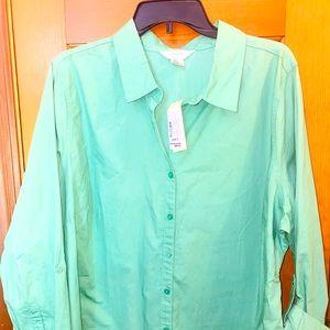 CJ Banks Size 2X Plus Size Curvy Button Down Shirt